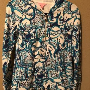 Lilly Pulitzer Luxletic Hooded Skipper Popover